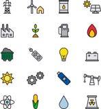 Icônes d'énergie Photo libre de droits