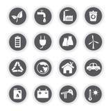 Icônes d'énergie, boutons ronds Photo libre de droits