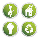 Icônes d'énergie d'Eco Photo libre de droits
