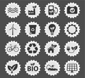 Icônes d'énergie de substitution simplement Images libres de droits