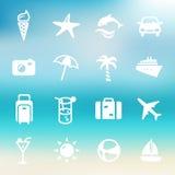 Icônes d'été Images stock