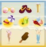 Icônes d'été Photo stock
