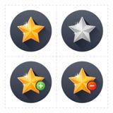 Icônes d'étoile Photo stock