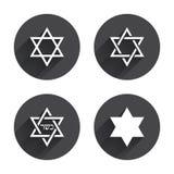 Icônes d'étoile de David Symbole de l'Israël Image libre de droits