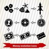 Icônes d'évolution d'argent Image stock