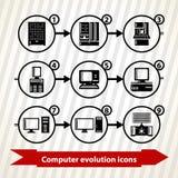 Icônes d'évolution d'ordinateur Photographie stock