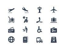 Icônes d'aéroport Photographie stock libre de droits