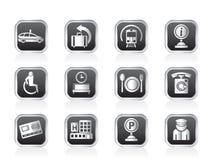 Icônes 2 d'aéroport, de voyage et de transport Photos libres de droits