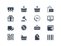 Icônes d'achats illustration de vecteur