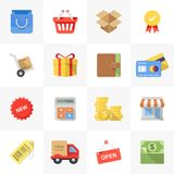 Icônes d'achats Photo libre de droits