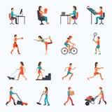 Icônes d'activité physique illustration de vecteur