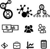 icônes d'affaires Photographie stock