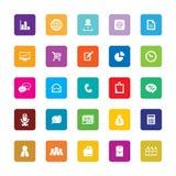 Icônes d'affaires Photographie stock libre de droits