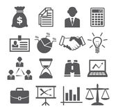 Icônes d'affaires Images stock