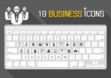 19 icônes d'affaires Image stock