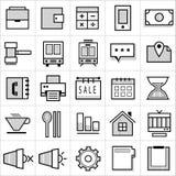 Icônes 001 d'affaires de rayure Images libres de droits