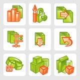 Icônes d'affaires - ensemble de vecteur Photos libres de droits