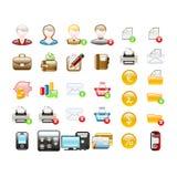 Icônes d'affaires et de bureau Images stock