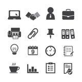 Icônes d'affaires et de bureau Photographie stock libre de droits