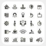 Icônes d'affaires et de finances réglées Photo libre de droits