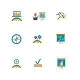 Icônes d'affaires et de vente Photo stock