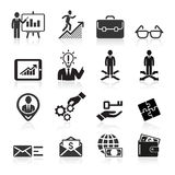 Icônes d'affaires, gestion et ressources humaines. Photos stock