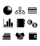 Icônes d'affaires réglées Images stock