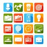 Icônes d'affaires réglées illustration stock