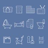 Icônes d'agréments de logement illustration de vecteur