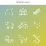 Icônes d'agriculture réglées Photo libre de droits