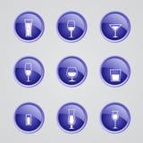 Icônes d'alcool de vecteur Photo stock