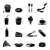 Icônes d'aliments de préparation rapide Photo libre de droits