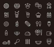 Icônes d'aliments de préparation rapide Photographie stock libre de droits