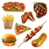Icônes d'aliments de préparation rapide