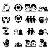 Icônes d'amitié et d'ami illustration libre de droits