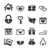 Icônes d'amour Photographie stock