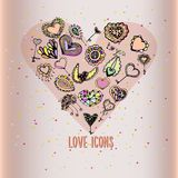 Icônes d'amour Photos stock