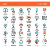 Icônes d'ampoules Images libres de droits