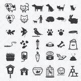 Icônes d'animal familier réglées Images stock