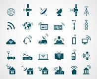 Icônes d'antenne et de technologie du sans fil illustration stock