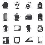 Icônes d'appareil ménager Photographie stock libre de droits