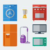 Icônes d'appareils ménagers Image libre de droits