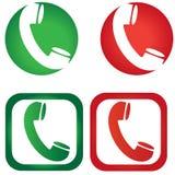 Icônes d'appel téléphonique de vecteur Photos libres de droits