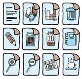 Icônes d'affaires de vecteur/applications de bureau Illustration Stock