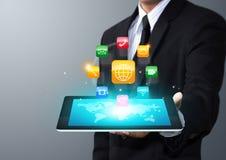 Icônes d'application de comprimé d'écran tactile photos libres de droits