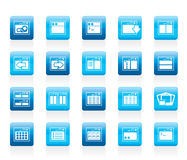 Icônes d'application, de programmation, de serveur et d'ordinateur Images libres de droits