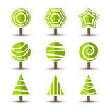 Icônes d'arbre Images libres de droits