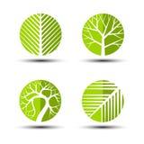 Icônes d'arbre Photos stock