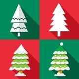 Icônes d'arbre de Noël de vecteur réglées Photographie stock libre de droits
