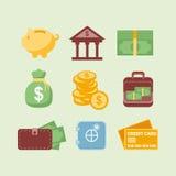 Icônes d'argent Image stock